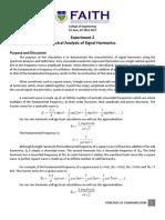 LabEx 2 Spectral Analysis of Signal Harmonics