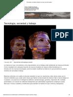 Tecnología, Sociedad y Trabajo _ La Nueva Ruta Del Empleo