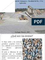 Áridos - Geologia minera