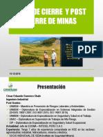 Capacitacion - Plan de Cierre de Minas