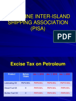 Excise Tax Effect on Petroleum by Atty Pedro Aguilar, executive director of the Philippine Inter-island Shipping Association