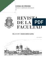 Revista de La Facultad UNC 2015 VI. Derecho