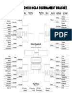 Printable 2018 March Madness NCAA Tournament second-chance bracket