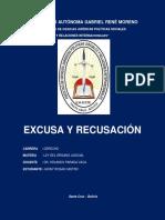 Excusa y Recusacion Investigacion