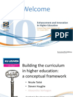 Building the Curriculum in Higher Education a Conceptual Framework