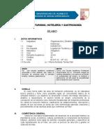 Silabo Organizacion y Gestion de Empresas Hoteleras