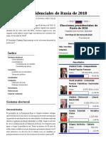 Elecciones Presidenciales de Rusia de 2018