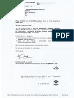 Exam Supprt Letter