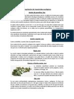 Recopilación de Insecticidas Ecológicos