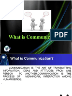 Lesson 12What is Communication