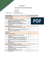 6. Rubrik Penilaian Pelaksanaan Pembelajaran