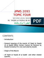 BWBS 3053 4. Fourth Topic Al Yaqin La Yuzalu Bis Syakki