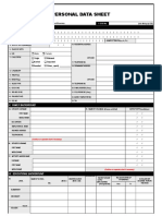 Personal Data Sheet (Revised 2005)