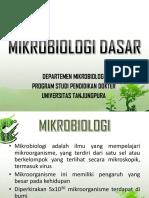 3. Mikrobiologi Dasar - Pak Mahyaruddin