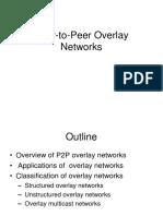 Peer to Peer Overlay Networks