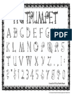 Trumpet Alphabet Poster 11x17