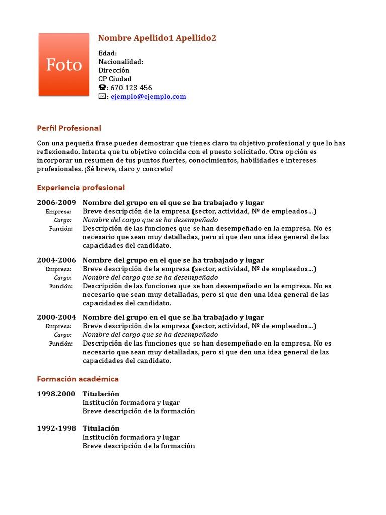 Perfecto Ideas De Resumen Profesional Para Reanudar Composición ...