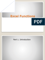 Excel Functions. Part 1 (Eng)