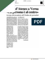 Sigillo d'Ateneo a Carlo Verna