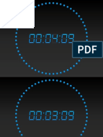 PowerPoint Countdown Timer Digital 5 Minutes Blue