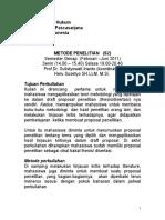 Fhui s2 Metode Penelitian Februari 2011