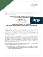 MEMR Press Release on Obligation to Use Rupiah