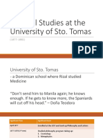Rizal- UST and Madrid