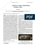 Design and Analysis of a Micro Tunnel Boring Machines (TBM)