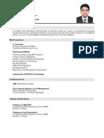 CV of Mahbub Alam