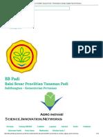 Balai Besar Penelitian Tanaman Padi -201 Pembentukan Varietas Unggul Padi Di Indonesia