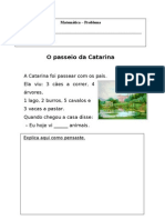 1º ano - tarefa - o passeio da Catarina