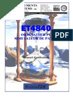 ET4840 Manuel d'Utilisation