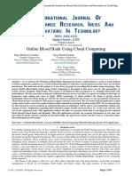 Online Blood Bank Using Cloud Computing