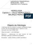 Hidrologia - Cap 1 - Balanço Hídrico