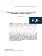 C4. Comparative-contrastive Analysis of Romanian-English Translation of Verb Phrase Structures. Error Analysis