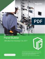 Schneider electrical Panel Builder Nov 17 price list