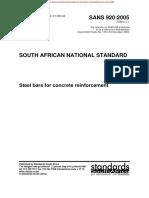 SANS920-Steel Bars for Concrete Reinforcement