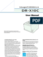 Canon Dr x10c User Manual