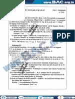 Serie N°1 Avec Correction - Physique - Ondes Mécaniques Progressives - Mr Zribi - sfax