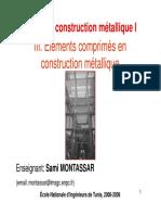 Cours CM 1 Chapitre 3 Eléments Comprimés en Construction Métallique 08 09