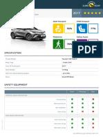Euroncap 2017 Toyota c Hr Datasheet