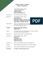 2010-11 District 13 DECA Calendar- Tentative