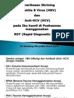 PMRKSN SKIRINING RDT HBV+HCV BUMIL DI PUSKESMAS-R
