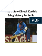 This How Dinesh Karthik Bring Victory for India