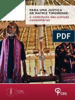 Para Uma Justica de Matriz Timorense