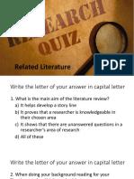 11-Literature Review Quiz