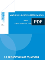 Matematika Bisnis - Application and More Algebra