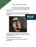 Marcelo Sro - Entrevista Sobre Consultoria - Onpage – Linkbuilding
