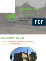 Baruch Bathhouse RFEI Summary 3-15-2018
