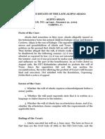 Notarial Will - Abada v. Abaja